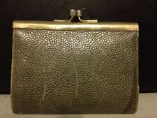 Genuine Leather Made In Italy Green Reptile Texture Change Purse