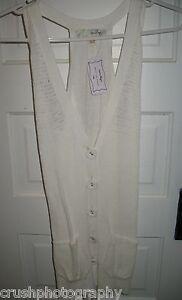 Heritage Cream Sleeveless Sweater Vest Top Size Medium M NWT