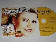GABY BAGINSKI  CD SINGLE   COPACABANA  (1998)