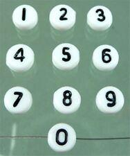 100  Perlen aus Kunststoff Zahlen zum Auswählen 0-9 ( 0,039 € / Stck.)