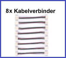 8x RGB LED Flex Streifen leiste Schnellverbinder Adapter Verbinder Kabel 4 Pol