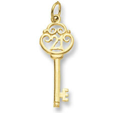 21st anniversaire Pendentif clé Pendentif or jaune clé de The porte