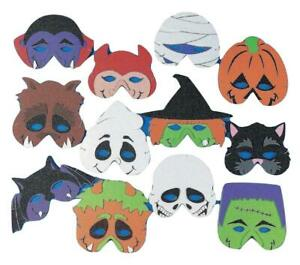 Foam Monster Halloween Birthday Party Masks - Costume Accessories - 12 Pack