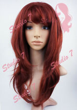 W143 Copper Red Long Wavy Layered Wig - studio7-uk