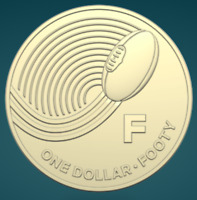 THE GREAT AUSSIE COIN HUNT | 2019 | UNC ONE DOLLAR COIN | 'F' FOR FOOTY