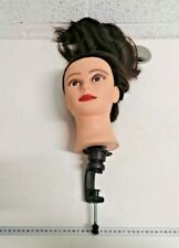 Hairdressing brown mannequin head salon training head styling with clamp