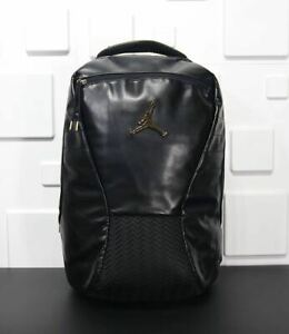 Nike Air Jordan Retro 12 Black/Gold/Red Backpack 9A1773-K25 New Ships Boxed!