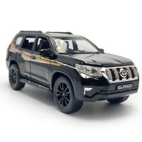 1:32 Toyota Land Cruiser Prado SUV Die Cast Modellauto Spielzeug Schwarz Kinder