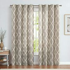 Window Curtains For Living Room Linen Treatment Solid Drapes Grommet Up 2 Panels