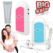 Ultrasonido Doppler fetal, monitor de ritmo cardíaco prenatal, auriculares,geles