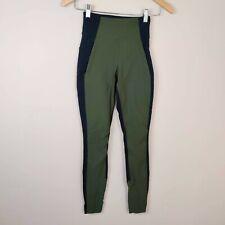 ATHLETA Size 0 Pants High Rise Highline Hybrid Ankle Tight Legging Green Black