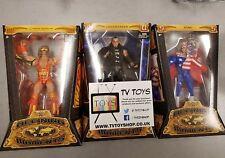 WWE Elite Defining moments Sting, Undertaker Ultimate Warrior Wrestling figure.