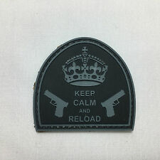 Keep Calm and Reload Morale patch badge pvc rubber hoop and loop burr tactical