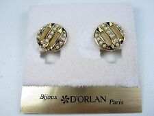 - Lead & Nickel Free 0806 D'Orlan Gold Plated Clip-on Earring with Pearls
