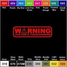 WARNING TURBOCHARGED Vinyl Decal Illest Turbo sticker NOS racing jdm