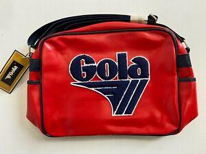 Gola Classics Redford Retro 70s Messenger Shoulder Bag Unisex Red/Navy
