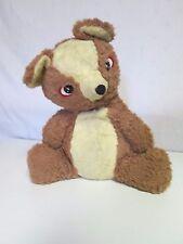 Vintage Plush Stuffed Teddy Bear with Button Eyes and Jingle Bear in Ear