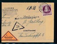 BERLIN 1951, Mi. 79 Brief, portorichtige EF auf Nachnahme!! Mi. 130,--!!