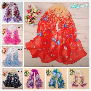 Fashion Stylish Women Long Soft Silk Chiffon Scarf Wrap Shawl Scarves hot