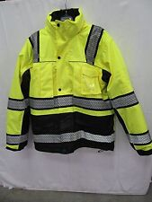 Work Tuff Industrial 3-in-1 Winter Parka Hi Vis Yellow / Black 8505 EB1303 Large
