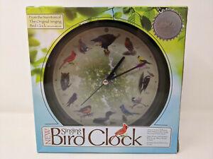 "NEW Limited Edition 20th Anniversary Mark Feldstein Singing Bird Clock 8"" NIB"