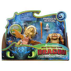 Dreamworks How To Train Your Dragon Fishlegs & Meatlug Wing Flapping Action Toys