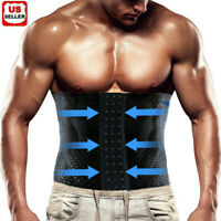 Men Tummy Belt Body Shaper Girdle Belly Slimming Waist Trainer Compression Band