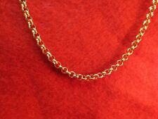 22 INCH GOLD STAINLESS STEEL 4MM ROLO  LINK ROPE CHAIN NECKLACE GOLD