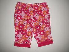 Sigikid tolle leichte Hose Gr. 62 rosa-orange mit Blumenmotiven !!
