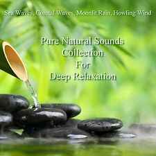 Pure Natural Sounds Sea Rain Wind 4 CDs Relaxation Sleep Aid Stress Relief Heal