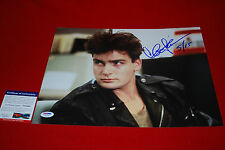 CHARLIE SHEEN major league wall street two and half men signed PSA/DNA 11x14