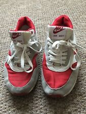 Red And Grey unisex Nike Air Max Trainers Size 6