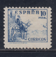 ESPAÑA (1937) NUEVO CON FIJASELLOS MLH -EDIFIL 830 (10 pts) CID - LOTE 1