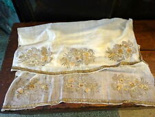 A 19th Century Ottoman Gold Thread Embroidery Panel