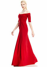 Badgley MIschka off-the-shoulder shirred gown, size 0 - NWT!  Retail $595.00