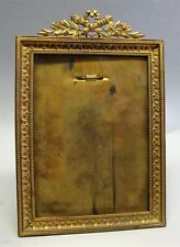 """Very Fine 19th C. FRENCH GILT BRONZE Picture Frame  7"""" x 5""""  c. 1890   antique"""