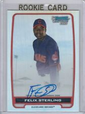 2012 BOWMAN CHROME FELIX STERLING INDIANS REFRACTOR ROOKIE ON CARD AUTOGRAPH RC