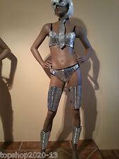 Samba Lady Gaga Mirror Leg Pieces- 4 Pieces! Costumes OUTFIT Brazilian Dress
