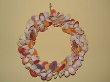 Large Sea Shell Wreath Beautiful & Colorful Home Decoration