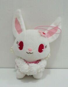 "Jewelpet RUBY White Hare Scarf Sanrio SEGA Plush 7"" Stuffed Toy Doll Japan"