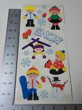 STAMPING STATION SNOW KIDS SKI TUBING SNOWBOARD FUN STICKERS SCRAPBOOKING A3169