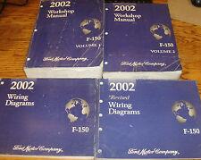 Original 2002 Ford Truck F-150 Shop Service Manual 1 & 2 + Wiring Diagram Set 02