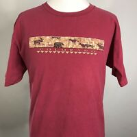 VTG COLORADO NATURE WILDERNESS TRAVEL TOURIST RED SINGLE STITCH USA T SHIRT XL