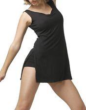Robe tunique de danse ou de  fitness TEMPS DANSE violine, Noire en 11/12a