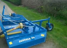 NEW SUFFOLK 4FT PADDOCK PASTURE GRASS TOPPER FOR COMPACT MINI TRACTOR INC VAT