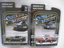 Smokey & Bandit 1977 Pontiac LeMans Sheriff + Firebird SET ** Greenlight 1:64