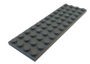 Lego 2 Stück Platte 4x12 in dunkelgrau (dark bluish gray) 3029 Neu Platten