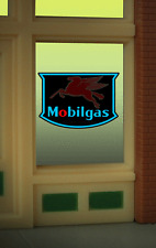 "MOBILGAS PEGASUS WINDOW SIGN -CAN BE TRIMMED AS SMALL AS O.9"" W X 0 .85"" T"