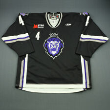 2009-10 Chris Stevens Reading Royals Game Used Worn ECHL Hockey Jersey MeiGray