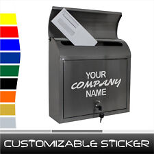 Personalizado nombre de empresa Post Mail Postbox Puerta Número De Casa Adhesivo Calcomanía (ST009)
